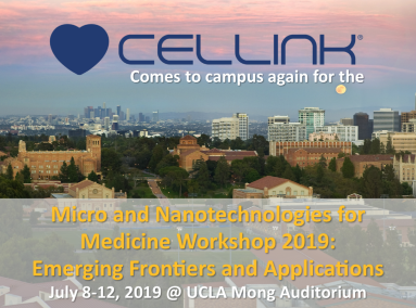July 8-12, 2019 | Micro- and Nanotechnologies for Medicine Workshop: Emerging Frontiers and Applications