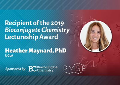April 23, 2019 | the American Chemical Society (ACS) 2019 Bioconjugate Chemistry Lectureship Award