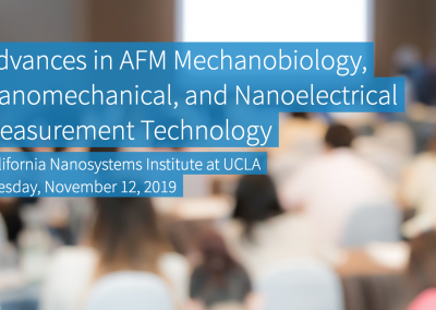 November 12, 2019 | Advances in AFM Mechanobiology, Nanomechanical, and Nanoelectrical Measurement Technology