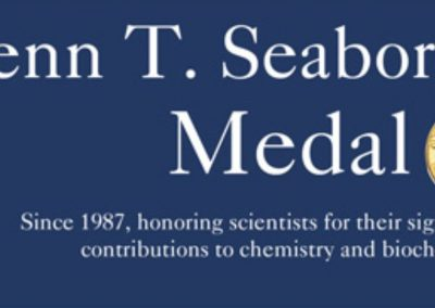 November 23, 2019 | Glenn T. Seaborg Symposium & Medal Award Dinner